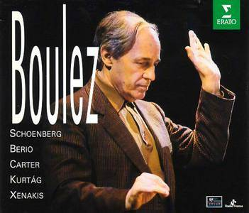 Pierre Boulez conducts Schoenberg, Berio, Carter, Kurtag, Xenakis, Birtwistle, Grisey, Dufourt, Ferneyhough (1995) 5CD Box Set