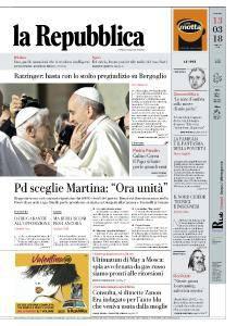 la Repubblica - 13 Marzo 2018