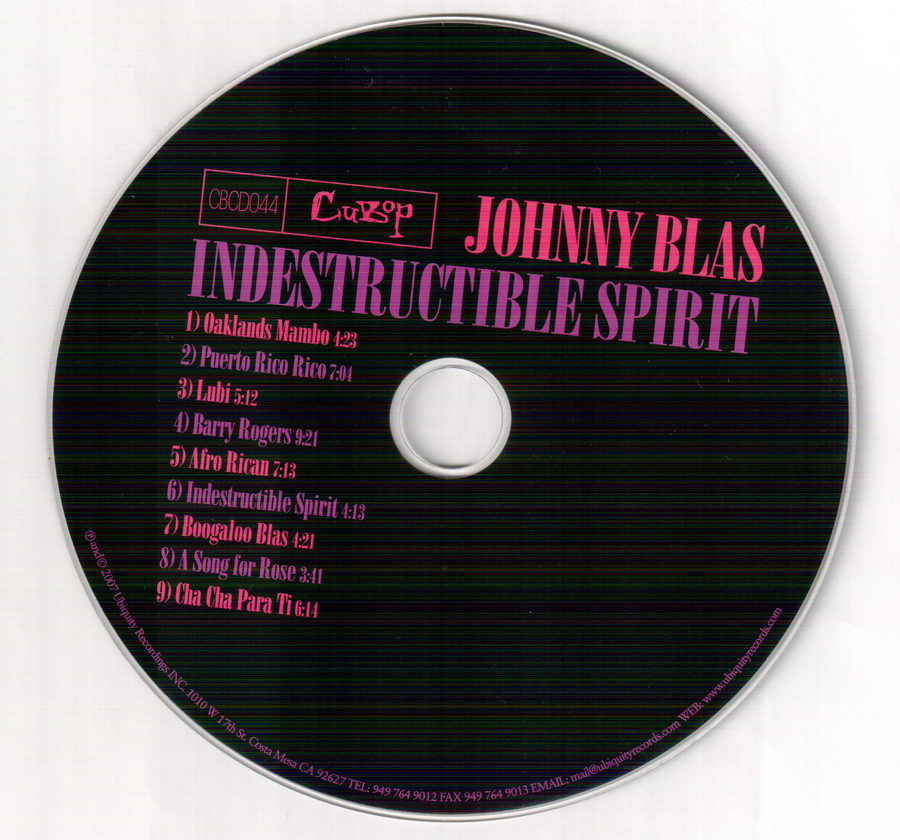 Johnny Blas - Indestructible Spirit (2007)
