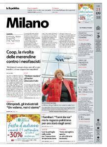 la Repubblica Milano - 21 Settembre 2018