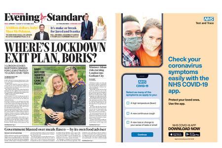 London Evening Standard – October 27, 2020