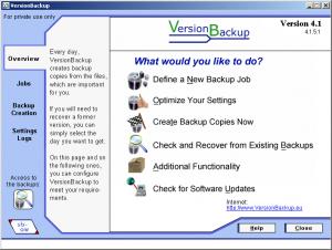 VersionBackup 4.1.6.0 Free