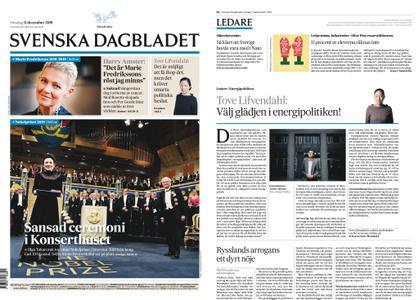 Svenska Dagbladet – 11 december 2019