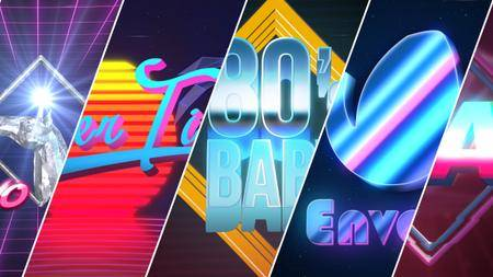80's Baby - VHS Logo-Titles Opener - Project for After Effects (VideoHive)