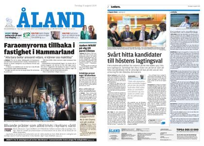 Ålandstidningen – 15 augusti 2019