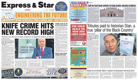 Express and Star Sandwell Edition – January 24, 2020