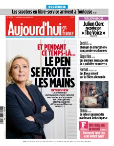 Aujourd'hui en France du Mercredi 14 Novembre 2018