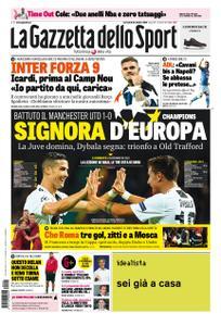 La Gazzetta dello Sport Roma – 24 ottobre 2018