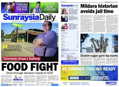 Sunraysia Daily – October 16, 2019