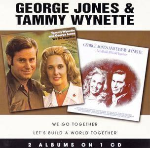 George Jones & Tammy Wynette - We Go Together (1971) & Let's Build A World Together (1973) {2on1 rel 2007}