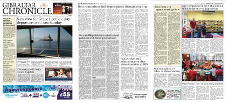 Gibraltar Chronicle – 17 August 2019