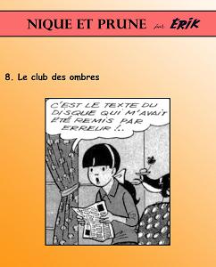 Nique et Prune - Tome 8 - Le Club des Ombres