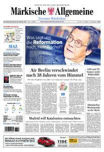 Märkische Allgemeine Zossener Rundschau - 28. Oktober 2017