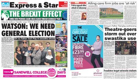 Express and Star Sandwell Edition – November 17, 2018