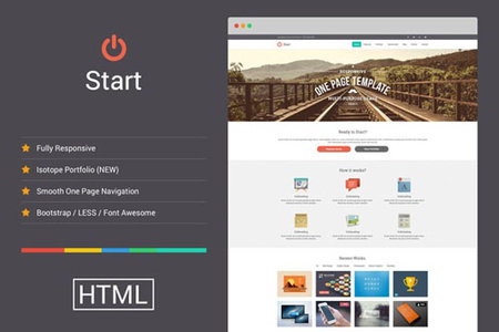 Creativemarket  - Start v1.2.3 - Responsive One Page Template |