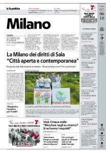 la Repubblica Milano - 7 Giugno 2018
