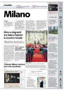 la Repubblica Milano - 27 Gennaio 2019