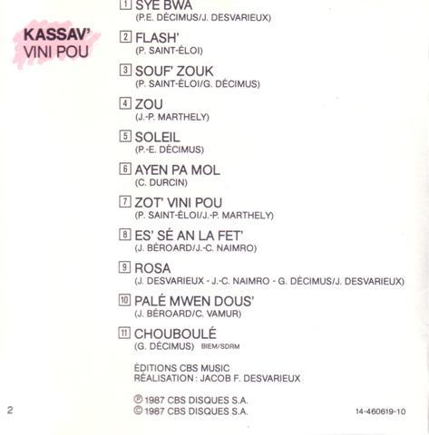 (Zouk Music) KASSAV' - Vini Pou @320