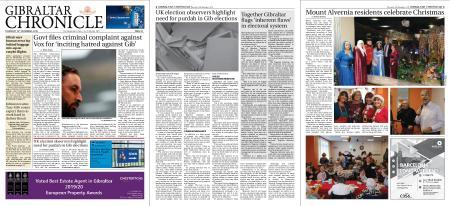 Gibraltar Chronicle – 19 December 2019