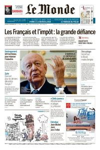 Le Monde du Vendredi 23 Novembre 2018