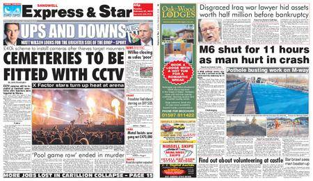 Express and Star Sandwell Edition – February 27, 2018