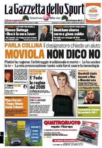 La Gazzetta dello Sport (29-12-09)
