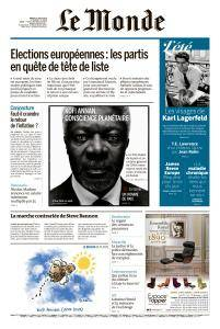 Le Monde du Mardi 21 Août 2018