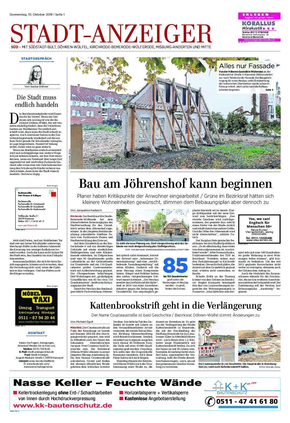 Stadt-Anzeiger Süd - 10. Oktober 2019