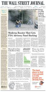 The Wall Street Journal - 15 October 2021