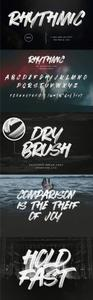 Rhythmic Dry Brush SVG Font