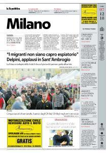 la Repubblica Milano - 7 Dicembre 2018