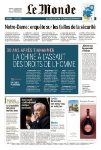 Le Monde du Dimanche 2 et Lundi 3 Juin 2019