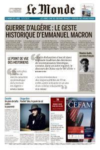 Le Monde du Vendredi 14 Septembre 2018
