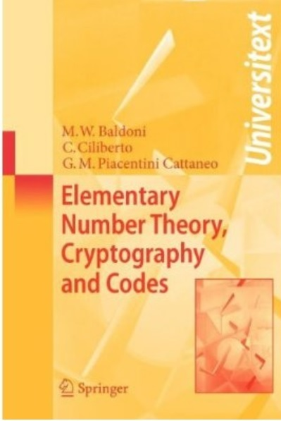 Elementary Number Theory, Cryptography and Codes [Repost]