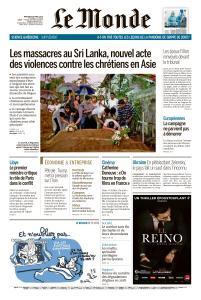Le Monde du Mercredi 24 Avril 2019