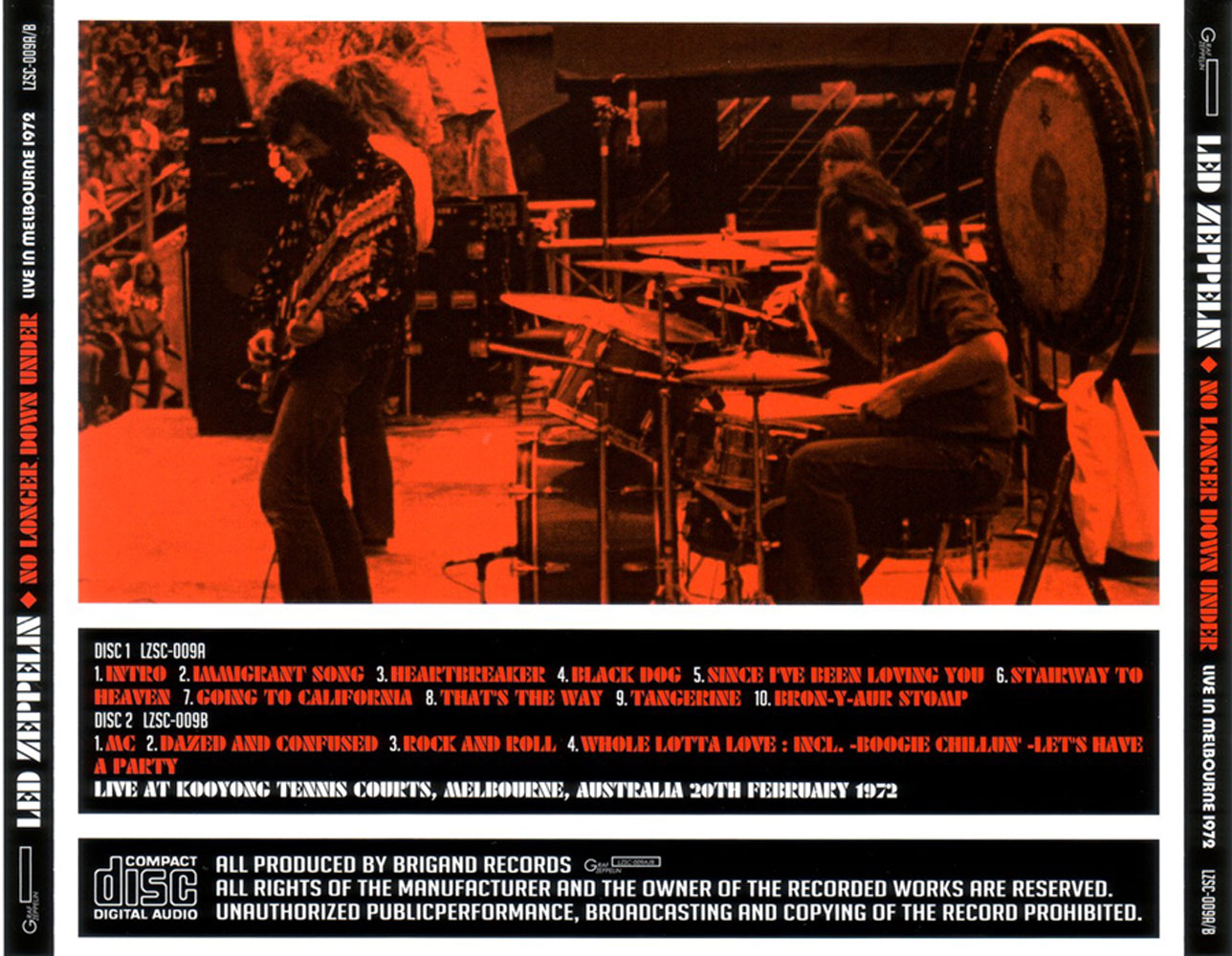 Led Zeppelin - No Longer Down Under (2CD) (2011) {Brigand} **[RE-UP]**