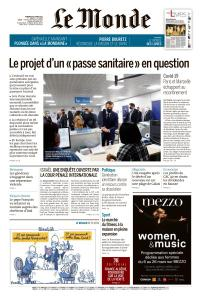 Le Monde du Vendredi 5 Mars 2021