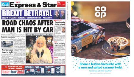 Express and Star City Edition – November 26, 2018