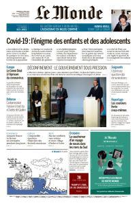 Le Monde du Vendredi 17 Avril 2020