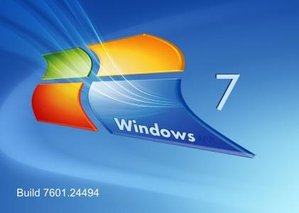 Windows 7 SP1 build 7601.24494