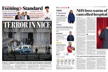 London Evening Standard – October 29, 2020