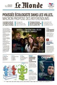 Le Monde du Mardi 30 Juin 2020