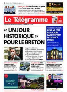 Le Télégramme Ouest Cornouaille – 09 avril 2021