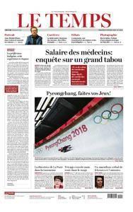Le Temps - 09 février 2018
