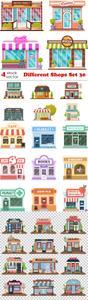 Vectors - Different Shops Set 30