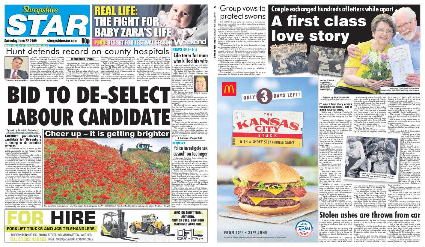 Shropshire Star Shrewsbury Edition – June 22, 2019