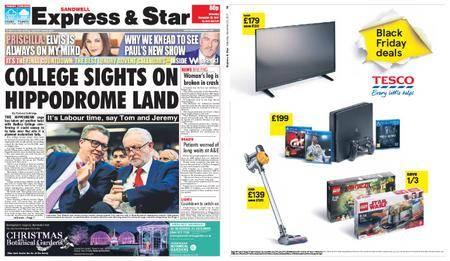 Express and Star Sandwell Edition – November 25, 2017