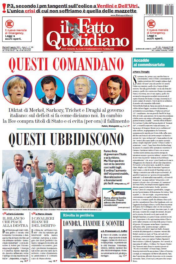 Il Fatto Quotidiano (09-08-11)