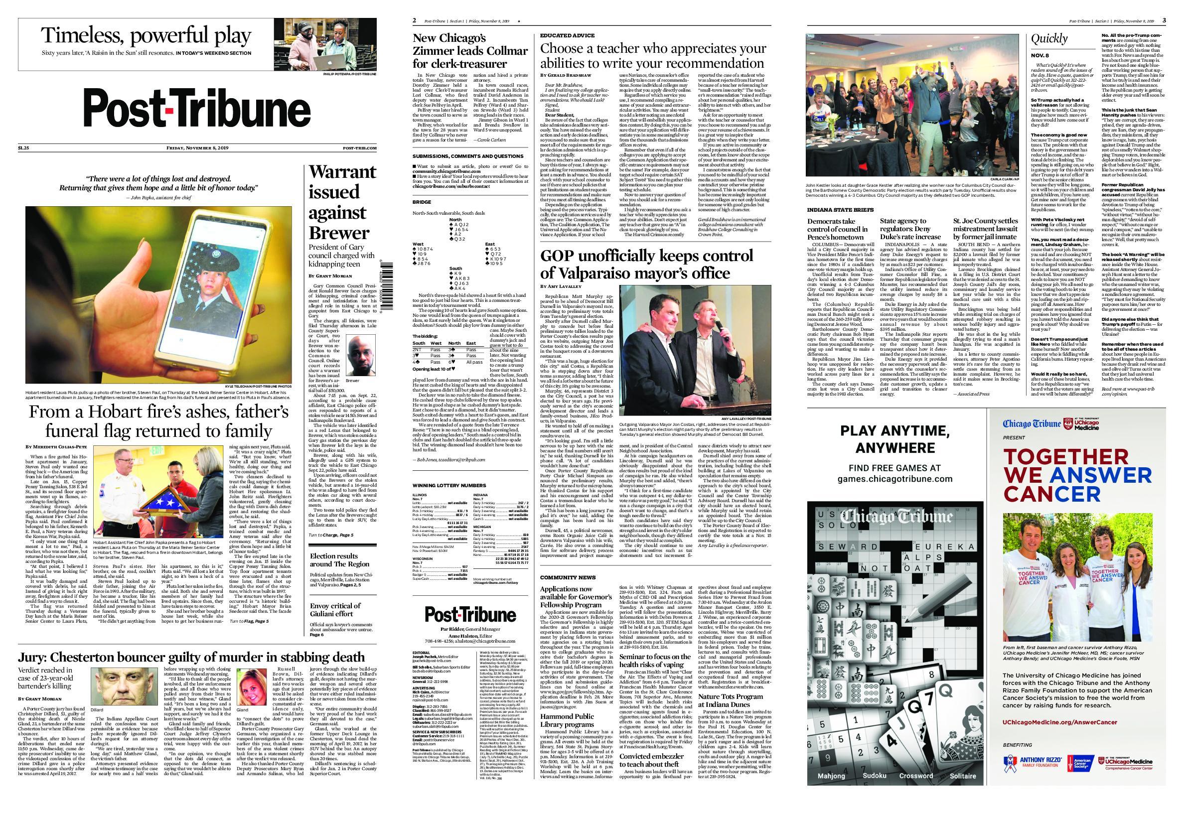 Post-Tribune – November 08, 2019