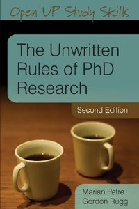 The Unwritten Rules Of Phd Research [Repost]